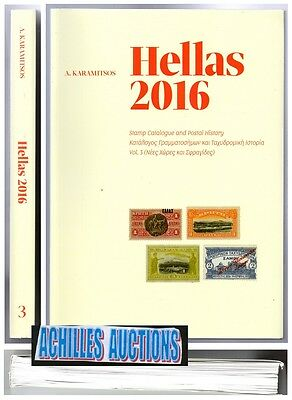 HELLAS 2016 NEW TERROTORIES & CANCELLATIONS STAMPS CATALOGUE VOL. 3 Last Edition