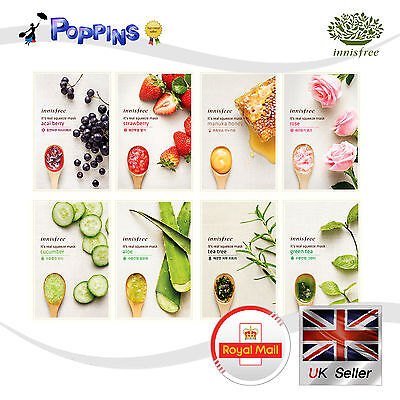 Innisfree Its Real Squeeze Series Sheet Mask 8 type (20ml x 8) Moisture Facial