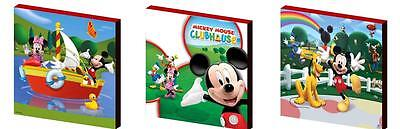 MICKEY MOUSE CLUBHOUSE SET b- CANVAS ART BLOCKS/ WALL ART PLAQUES/PICTURES
