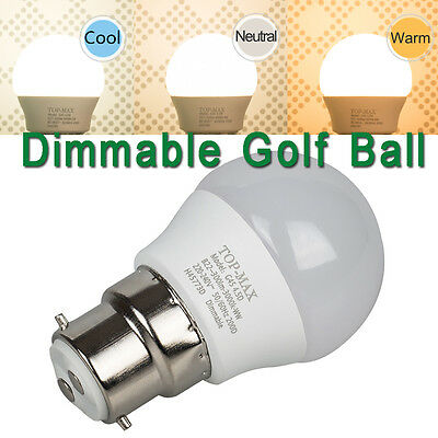 4.5W 8W 10W 12W B22 LED Light Bulb Dimmable Warm Neutral Cool White Golf Ball UK