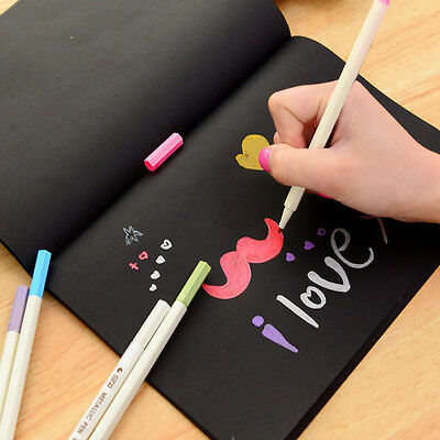 New Sketchbook Diary for Drawing Painting Graffiti Cover Black Paper Sketch Book