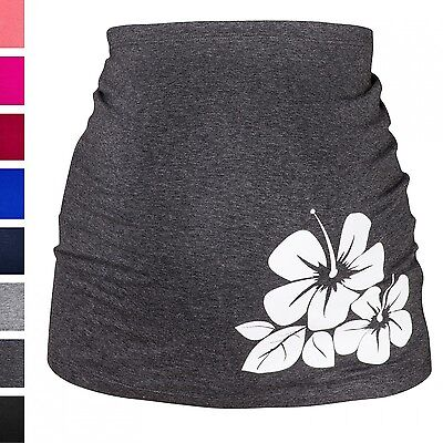 Happy Mama. Women's Pregnancy Maternity Belly Band Hibiscus Flower Print. 036p
