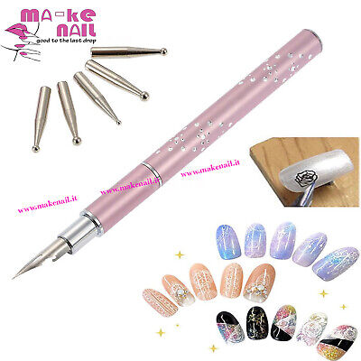 New Penna Stilografica Nail Art Decorazioni Unghie Micropittura Tips Gel Uv Kit