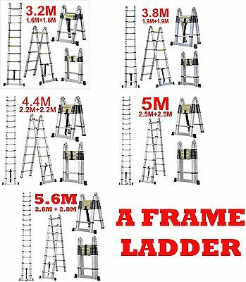 3.2m 3.8m 4.4m 5.0m 6.2m A Frame Folding Telescopic Multi Purpose Ladder Steps