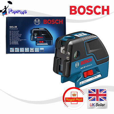 New BOSCH Professional GCL 25 Five-Point Self Leveling Alignment Laser