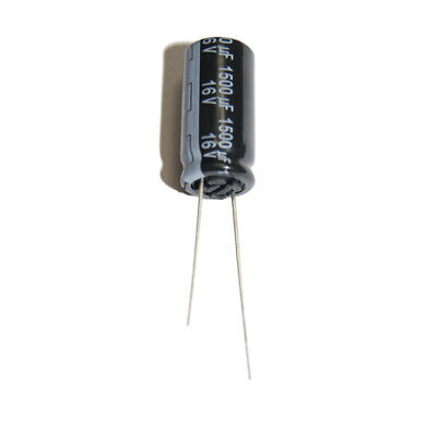 1500uF 16V Low ESR Electrolytic Capacitors 105'C Panasonic, Pack of  2,5 or 10