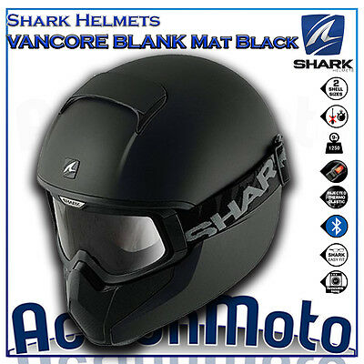 Casco Helmet Integrale SHARK VANCORE BLANK Mat Black moto scooter urban