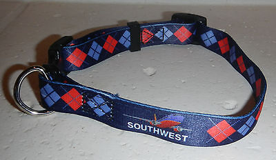"NEW Southwest Airlines Logo SWA Medium 13-21"" Dog Collar"