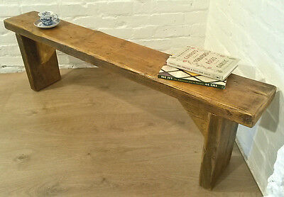 3ft CHUNKY Solid Rustic Vintage Reclaimed Pine Plank Dining Table Seating BENCH