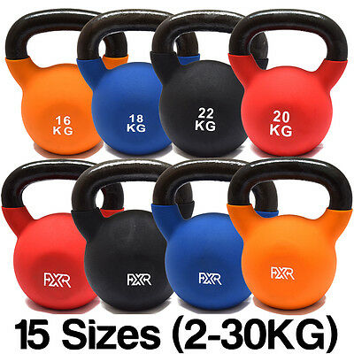 Fxr Sports Cast Iron Kettlebells With Rubber Sleeve Home Gym Fitness Kettlebell