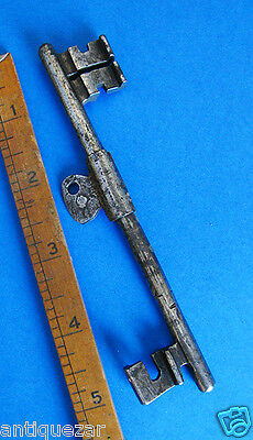 Rare GENUINE 18th. C. Double Ended Old Antique Skeleton Key - More Keys Here