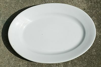 "Thick Meakin Brothers White English Ironstone China 14"" Oval Platter 1851-1859"