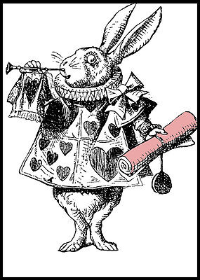 A3/A4 size Posters  - Alice In Wonderland im Late Rabbit - Vintage Art Print #4