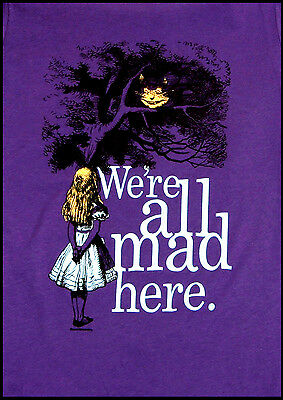 A3/A4 size Posters - Alice In Wonderland we're all mad Here Vintage Art Print #4