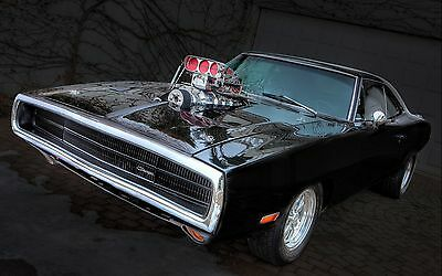 """dodge charger hot rod tuning muscle car Mini Poster 13""""x19"""" HD"""