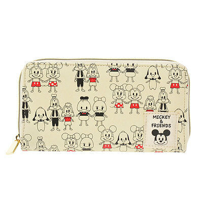 Disney Store JAPAN Mickey and Friends Best Fiend Wallet with Gift Bag NEW