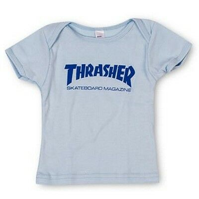New THRASHER SKATEBOARD MAGAZINE Logo Infant Baby T-Shirt (Blue) 6-12 months