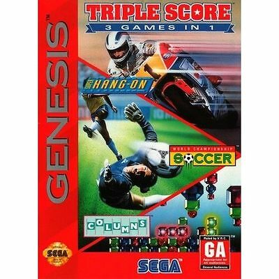 Triple Score: 3 Games in 1- SEGA Genesis (Cartridge Only)