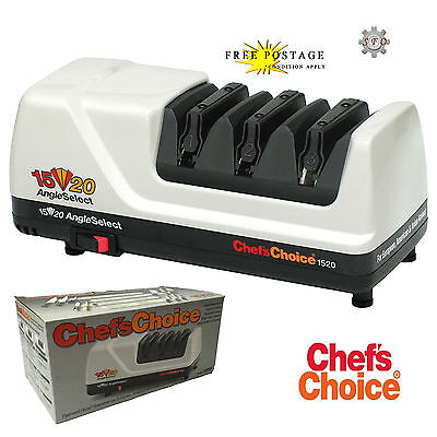 CHEF'S CHOICE CC 1520 Electirc Diamond Knife Sharpener WHITE