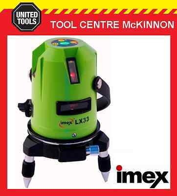 Imex Lx33 3-Line Laser Level With Plumb Spot – 2 Year Warranty