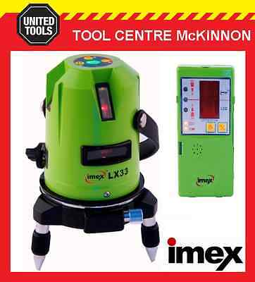 Imex Lx33D 3-Line Laser Level With Plumb Spot With Detector – 2 Year Warranty