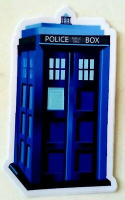 Doctor Who Tardis Sticker Luggage Laptop PVC Waterproof 3M 6.5 x 4 cm
