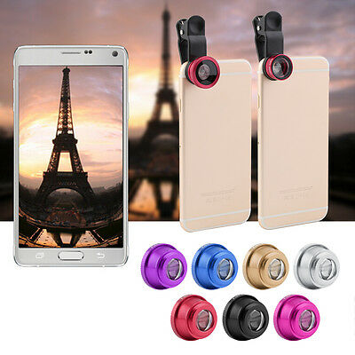 Hot 3 In 1 Clip Camera Lens Wide Angle Macro Kit For Smart Phone QT