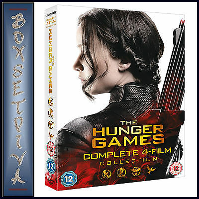 The Hunger Games Complete Collection -4 Film Collection *Brand New Dvd Boxset***