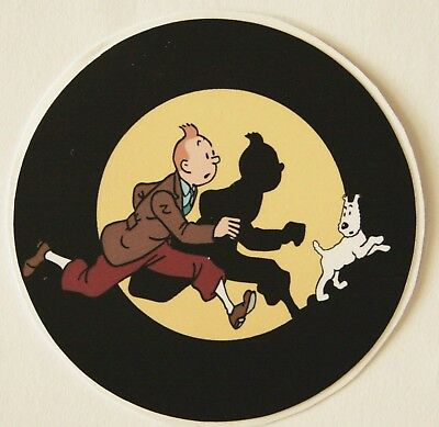 Tintin Snowy PVC Sticker Herge Luggage Laptop Guitar Case 6 cm Comic Animation