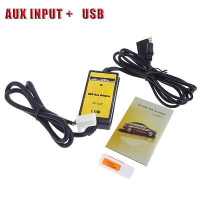 For Toyota Camry Sienna Corolla Car USB Aux-in MP3 Adapter Radio Interface F6E9