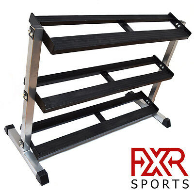 Fxr Sports Heavy Duty 3 Tier Steel Hex Dumbbell Storage Rack Holder Stand Gym
