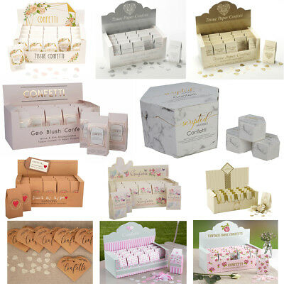 Wedding Throwing Confetti Biodegradable Tissue Paper - 20 Single Packs in Box