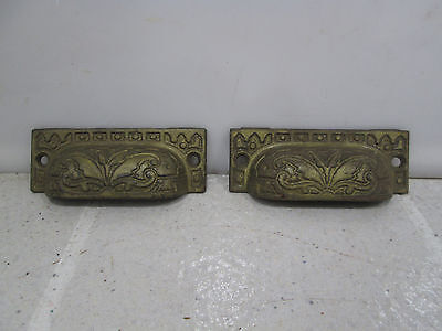 2 Vintage Cast Iron Cup Style Drawer Pulls #407