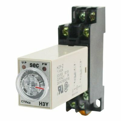 H3Y-2 DC 24V  Delay Timer Time Relay 0 - 3 Seconds with Base