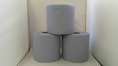 2 Ply Blue Soft & Ultra Absorbent Centre Feed Rolls 70mmx177mm 6 Rolls Per Pack