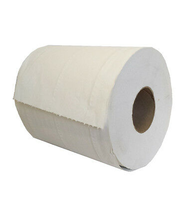 2 Ply White Soft & Ultra Absorbent Centre Feed Rolls six Rolls Per Pack