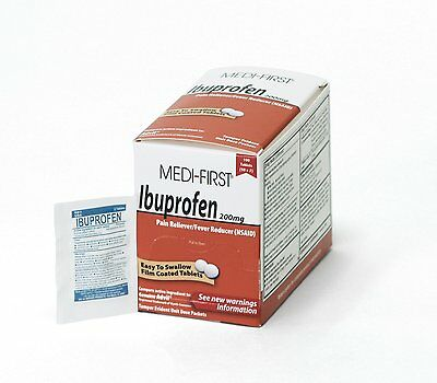 Medique Products 80833 Medi-First Ibuprofen, 100 Tablets, 50 X 2