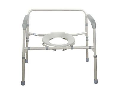 Drive Heavy Duty Adjustable Height Bariatric Folding Bedside Commode Seat Chair