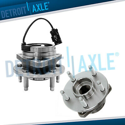Pair (2) New Front Wheel Hub & Bearing Ass'y w/ ABS 5 STUDS for G6 Malibu HHR