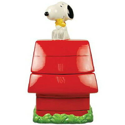 Peanuts Snoopy's Doghouse with Snoopy on Top Ceramic Cookie Jar, 2012 NEW UNUSED