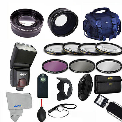 Professional Flash / Lens / Accessory Kit for SONY ALPHA A5000 A5100 A6000 A6300