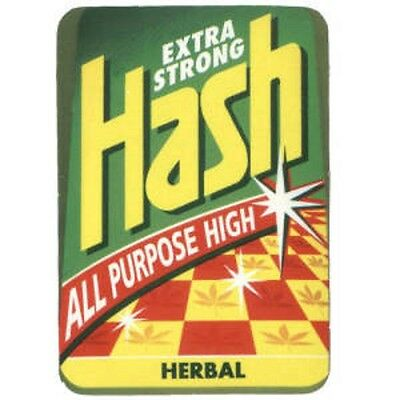 HASH Extra Strong - Aufkleber Sticker #316 Drugs Joint Cannabis Grass FUN Kiffen