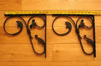 Antique VINTAGE Cast Iron Shelf Brackets Cistern Holder Architectural Victorian