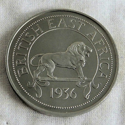 Edward Viii British East Africa 1936 Milled Edge Proof Pattern Crown