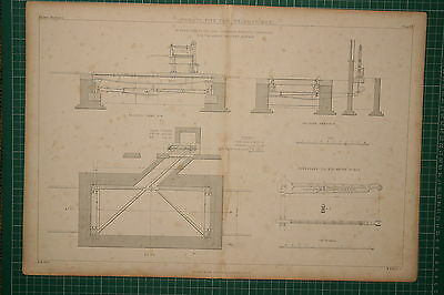 1855 Large Locomotive Print 25 Ton Weighbridge Henry Pooley & Son Great Western