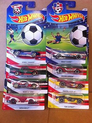 Hot Wheels Diecast - Soccer Series - Complete Set Of 8