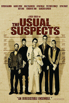A3/A4 size POSTER * THE USUAL SUSPECTS * Classic Vintage Action Movie Film  #10