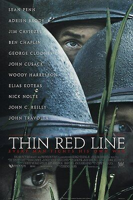 A3/A4 size POSTER * THIN RED LINE * Classic Vintage Action Movie Film  #10