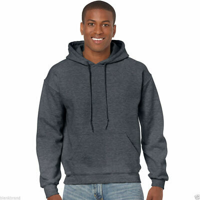 Gildan Adults Plain Hooded Sweatshirt | Classic Fit Heavy Blend Hoodie | S-2XL