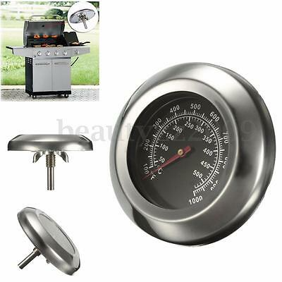 Stainless Steel Roast Barbecue BBQ Smoker Grill Thermometer Temp Gauge 50~500℃